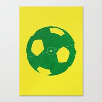 soccer Canvas Prints featuring Soccer by AJAN
