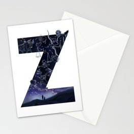 Letter Z Illustration by Asia Orlando Stationery Cards
