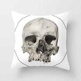 London Skull Throw Pillow