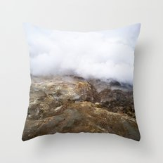 geothermal steam Throw Pillow