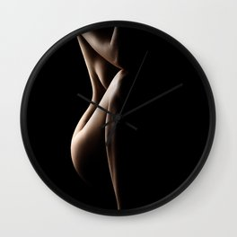 Silhouette of nude woman Wall Clock