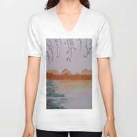 serenity V-neck T-shirts featuring Serenity by Krista May