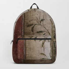 Antique wall painting Backpack