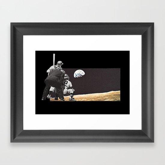 Moon Ball Framed Art Print