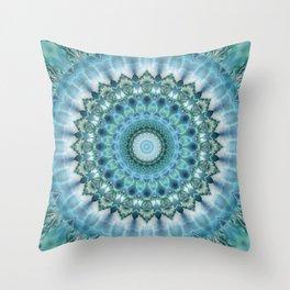 Mandala Ice Magic Throw Pillow