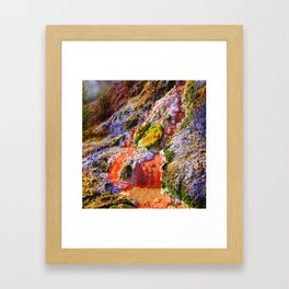 RAINBOW MINERAL WATERFALL Framed Art Print