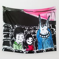 cinema Wall Tapestries featuring Donnie Darko - At the Cinema  by Ayemaiden