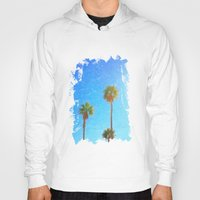palms Hoodies featuring Palms by Tonya Doughty