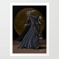 sandman Art Prints featuring Sandman by Sloe Illustrations
