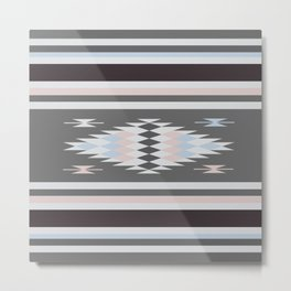 American Native Pattern No. 263 Metal Print