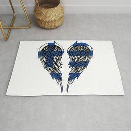 Greek wings art Rug