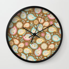 Hedgehog Paisley_Colors and Cocoa Wall Clock