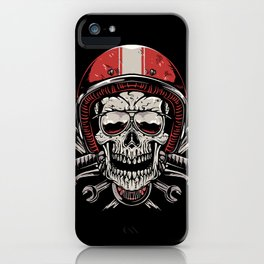 Skull Biker iPhone Case