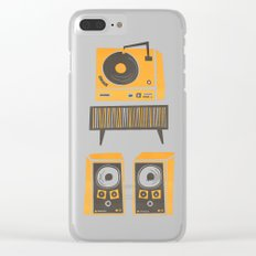 Vinyl Deck And Speakers Clear iPhone Case