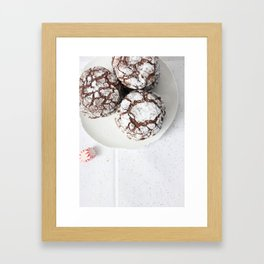 Chocolate candy cake cookies Framed Art Print