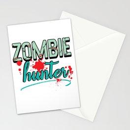 Zombie Hunter Maggot Infested Blood Splatter Apocalypse design Stationery Cards