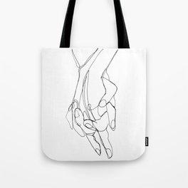 One Line Love Tote Bag