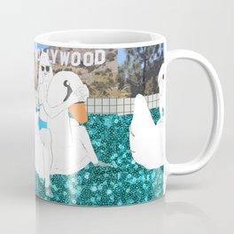Hollywood Pool Scene Coffee Mug