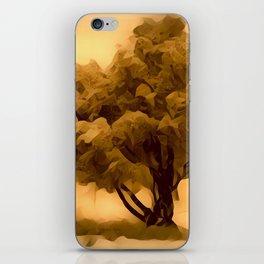 Sepia Juniper Tree by CheyAnne Sexton iPhone Skin