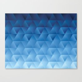Abstract blue gradient watercolor polygon geometric  Canvas Print