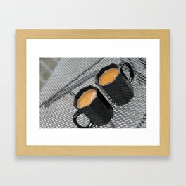 Two Coffees Framed Art Print