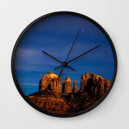 Sedona Past Midnight Wall Clock
