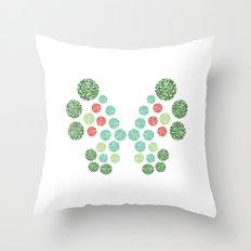 Vivillon Garden Form Throw Pillow