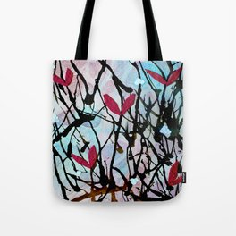 Blown Ink Painting Collage Tote Bag