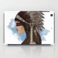 native american iPad Cases featuring Native american by Erika Leiva