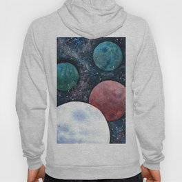 Journey through the cosmos. Alien planet watercolor Hoody
