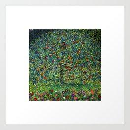 The Apple Tree Gustav Klimt Art Print