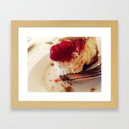 Cherry Cheesecake Framed Art Print