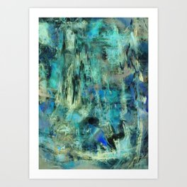 Ice Emerald Bog Art Print