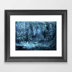 A Clearing Through The Swamp Acrylics On Stretched Canvas  Framed Art Print