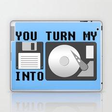 You turn my floppy disk into hard drive Laptop & iPad Skin