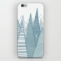 mountains iPhone & iPod Skins featuring Mountains by Anita Ivancenko