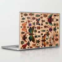 bugs Laptop & iPad Skins featuring Love Bugs by Angela Rizza