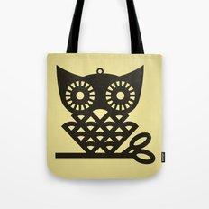 Yellow Hoot Tote Bag