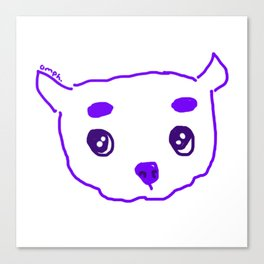 purple puppy Canvas Print