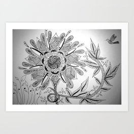 Flower Lure Art Print