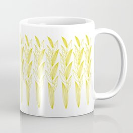 Growing Leaves: Golden Yellow – White background Coffee Mug