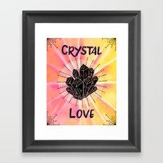 Crystal Love - Boho Crystal Watercolor Framed Art Print