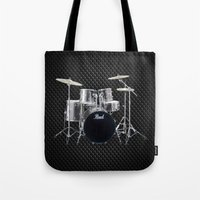drums Tote Bags featuring Pearl Drums  by good music
