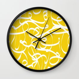 @NEW Modern Ribbon | Sun Yellow Wall Clock