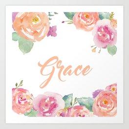 Grace Name Art Print