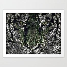 Circlism Tiger Art Print