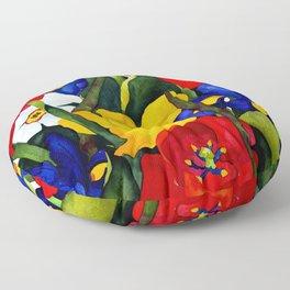Floral Multiplication Floor Pillow