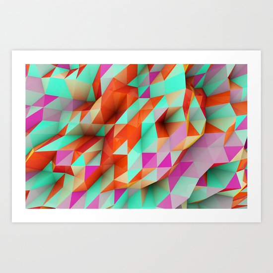 Polygons Sphere Abstract Art Print
