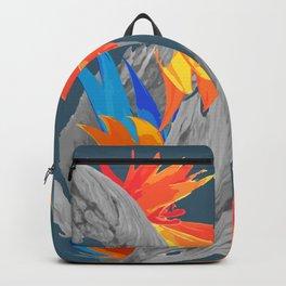 Midnight Flower Frosty Fire Backpack