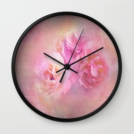 Baroque Painted Roses Wall Clock
